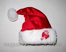 "Новорічна Шапка Дитяча Діда Мороза Ковпак Санта Клауса Santa Claus червона ""Цукерочка"""