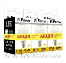 Світлодіодна лампа Feron LB-95 5W Е14 2700K (3в1) АКЦІЯ!