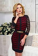 Эффектное женское вечернее платье Рона красный  44-46 размеры