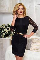 Эффектное женское черное вечернее платье Рона 52 размер