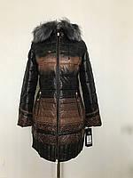 Женское зимнее пальто с принтом. Супер!!!