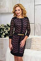 Эффектное женское  вечернее платье Рона пудра   44-46 размеры