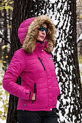 Мембранная зимняя куртка для женщин с мехом BRUGI  Италия