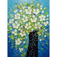 Картина по номерам на холсте без коробки Ваза с весенними цветами  40 х 50 см