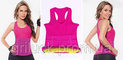 Майка женская для фитнеса розовая Hot Shapers