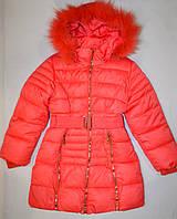 Пальто зимнее для девочки 122,128