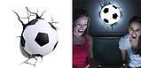 Дитячий світильник 3D Футбольний м'яч, фото 2