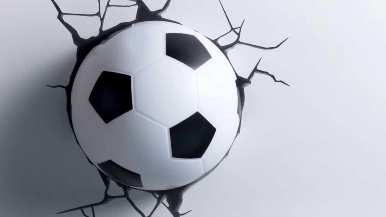 Детский светильник 3D Футбольный мяч