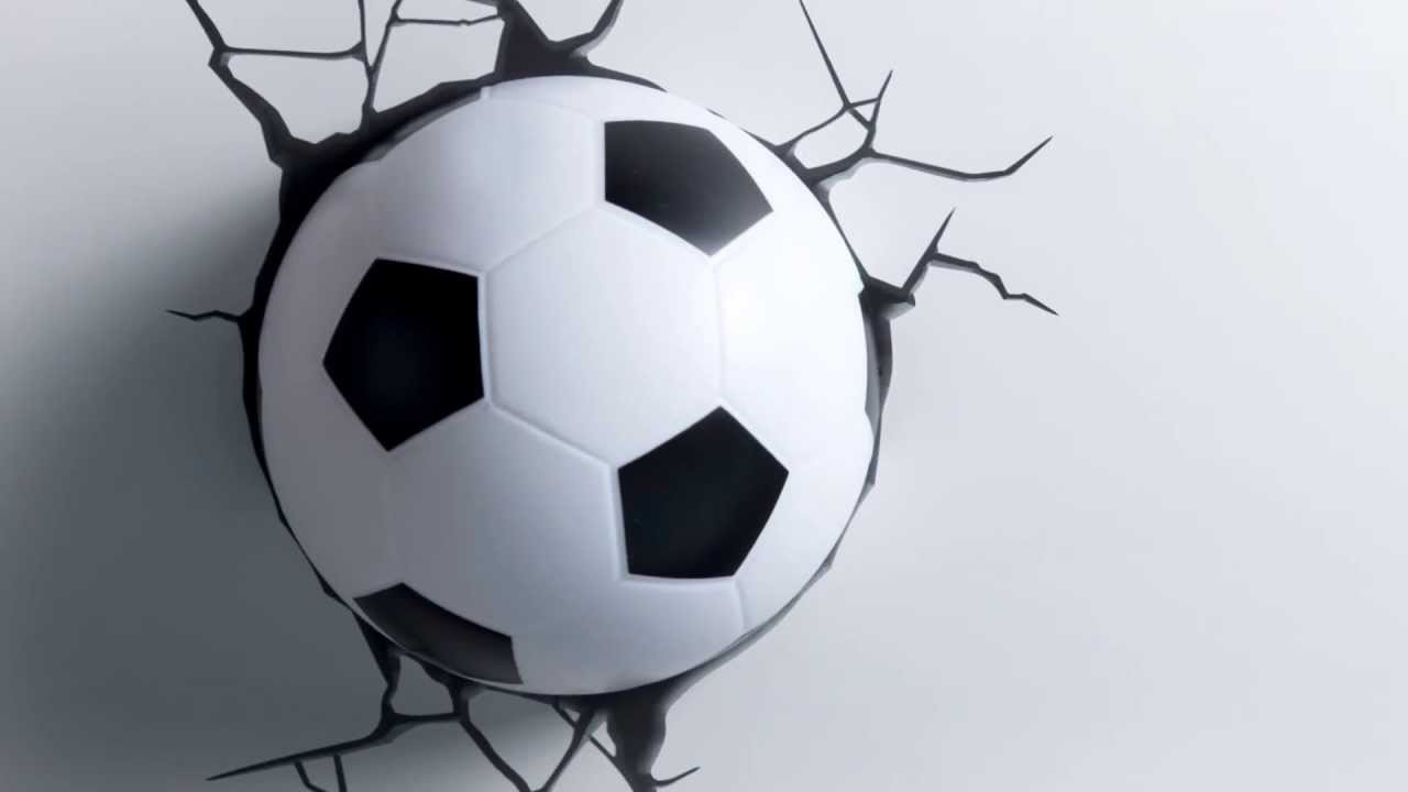 Дитячий світильник 3D Футбольний м'яч