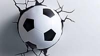 Детский настенный светильник 3D Футбольный мяч