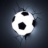 Дитячий світильник 3D Футбольний м'яч, фото 3