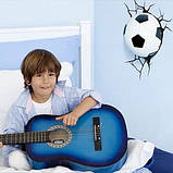 Дитячий світильник 3D Футбольний м'яч, фото 4