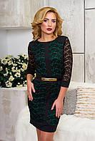 Эффектное женское  вечернее платье Рона  зеленый  44-48 размеры
