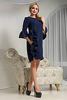 Красивое нарядное прямое платье Варьете с рюшами 44-52 размеры