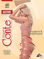 Conte Active утягивающие капроновые колготки 40 Den 3 размер, цвет черный