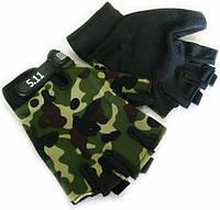 Летние тактические перчатки без пальцев L