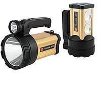 Мощный аккумуляторный светодиодный фонарь TD-9000B 40W с ультрафиолетом, фото 1
