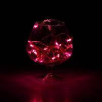 Гирлянда нить 100 led фиолетовое свечение прозрачный провод