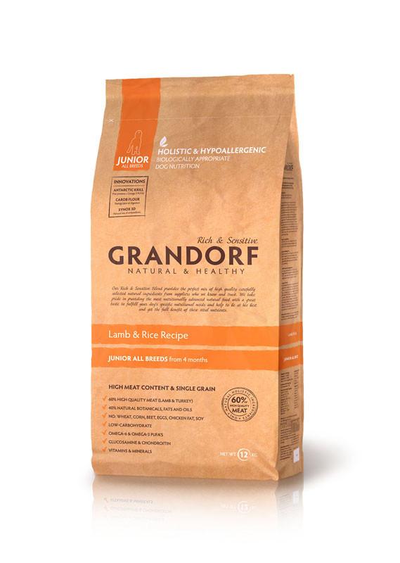 Сухой корм Grandorf Sensitive Care Holistic Lamb&Rice Junior для юниоров с ягненком и рисом, 1 кг