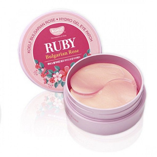 Гидрогелевые патчи Petitfee Koelf  Hydro Gel Ruby & Bulgarian Rose Eye Patch, 60 мл