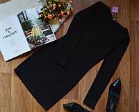 Женское платье плотное и очень теплое черное