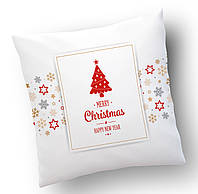 Подушка  Счастливого Рождества .