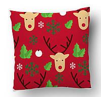 Подушка Новогодние олени