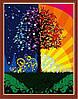 Картины по номерам 40×50 см. Дерево счастья