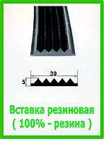 Резиновая вставка для установки в алюминиевые профиля.