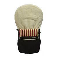 Конверт для коляски Anex (brown) KA-2, теплый, меховый конверт на овчине