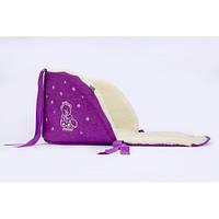 Матрасик (подстилка ) в санки открытый (овечья шерсть) Baby Breeze (lilac)
