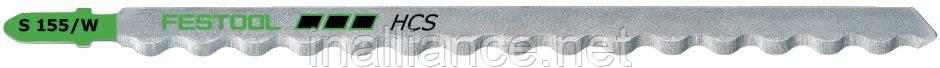 Пилочки для лобзика с волнистым лезвием S 155/W/3 Festool 493656