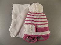 Шапка зимняя с шарфом для девочки PRO-HAN