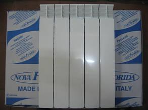 Радиатор алюминиевый отопления (батарея) 350x100 NovaFlorida Desiderio B4 (боковое подключение), фото 2