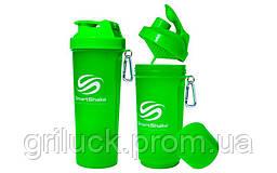 Спортивный шейкер для протеина Smart Shaker зеленый