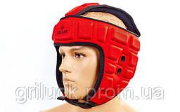 Шлем для борьбы красный Zelart