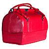 Стильный классический саквояж Sac Voyage- со съемным органайзером, красный лаковый