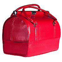 Стильный классический саквояж Sac Voyage- со съемным органайзером, красный лаковый, фото 1