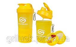 Спортивный шейкер для протеина Smart Shaker желтый