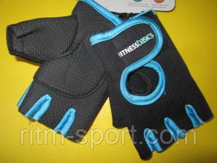 Перчатки для тренажерного зала из неопрена, ладонь с антискользящим покрытием.