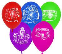 """Шары воздушные разноцветные с рисунком, латекс """"Микки и Мини Маус"""" 30 см"""