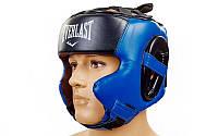 Боксерский шлем тренировочный закрытый синий Everlast