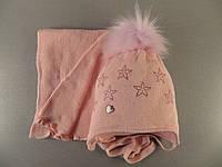 Шапка зимняя с шарфом для девочки AGBO