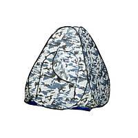Автоматическая зимняя палатка 2,4*2,4 белый камуфляж, туристическая, рыбацкая