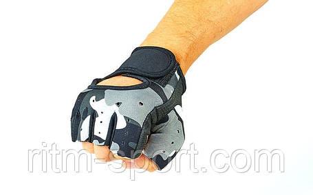 Перчатки спортивные (неопрен, серые), фото 2