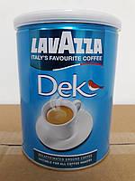 Молотый кофе без кофеина Lavazza Caffe DEK 250г. Ж/Б
