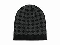 Вязаная мужская шапка на зиму
