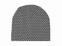 Мужская теплая шапка Шахматка