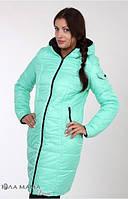 Зимнее двухстороннее пальто 2 в 1 Kristin  р. 44 (для беременных, обычное пальто) ТМ Юла Мама  Мята