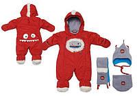 Зимний комбинезон для мальчика 3-18 месяцев (комбинезон, шарфик, манишка, шапка) ТМ Deux par Deux J 611-750